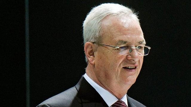 Martin Winterkorn bei einer Pressekonferenz.