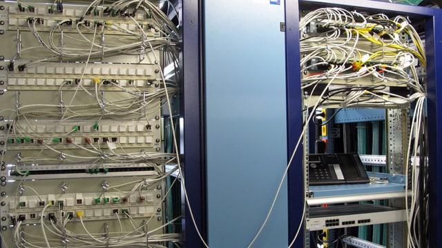 Informatik-Serverraum / Kabel