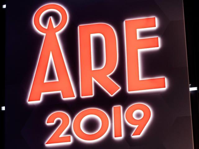 Plakat mit dem Schriftzug «Are 2019».