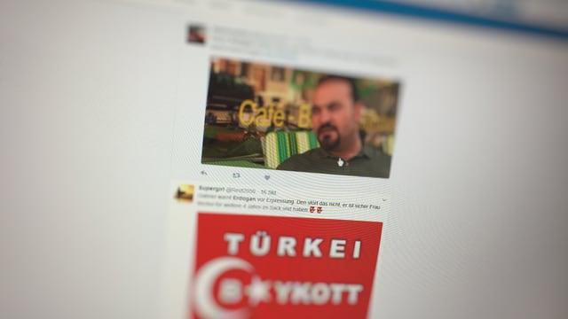 Twitter-Posts zur Türkei.