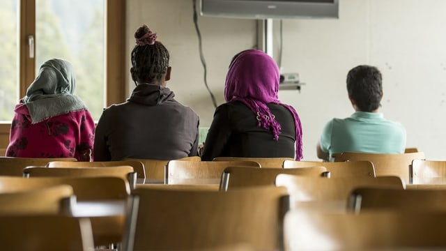 Flüchtlinge im Bundesasylzentrum Glaubenberg