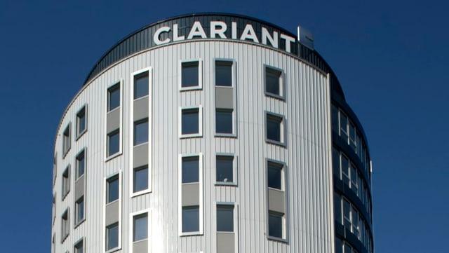 Clariant Hauptsitz in Pratteln, Aufnahme von aussen, nur oberer Teil des Gebäudes