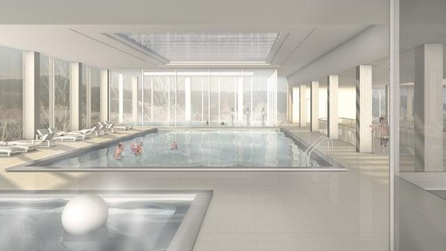 Neues Hallenbad von Innen.