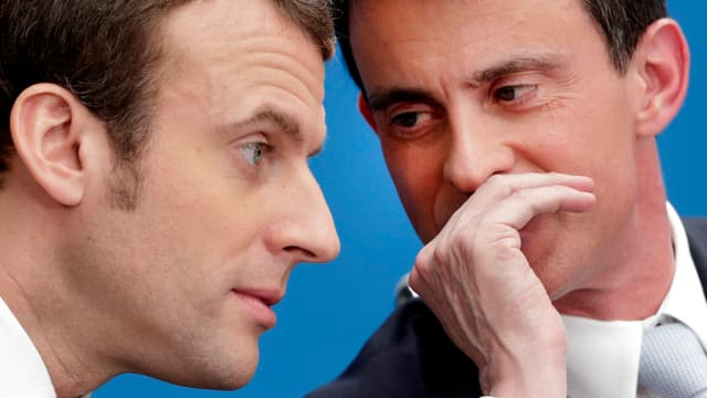 Emmanuel Macron e Manuel Valls