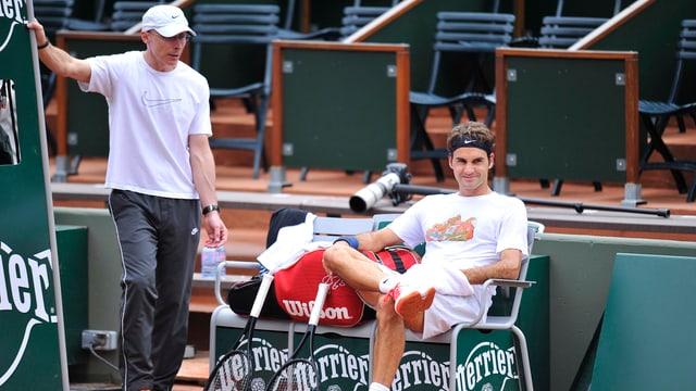 Pierre Paganini und Roger Federer sind ein eingespieltes Team.