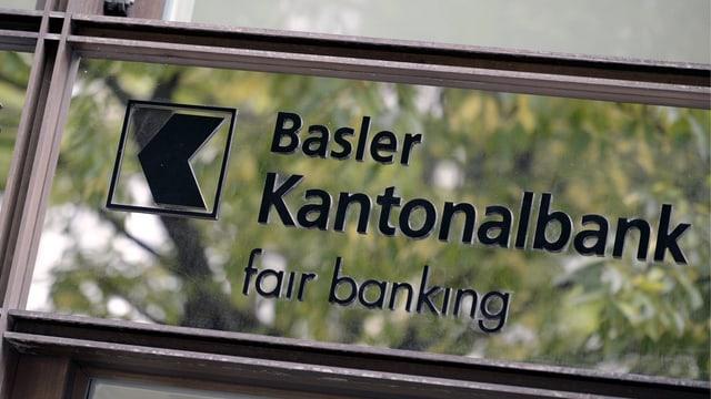 Ein Schild einer Kantonalbank