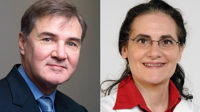 Prof. Paul Erne (links) und PD Dr. Isabella Sudano