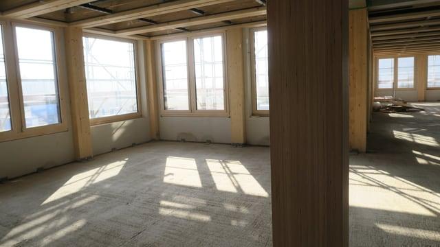 Holzelemente im Innenraum