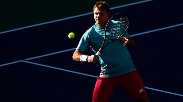 Stan Wawrinka in Indian Wells.