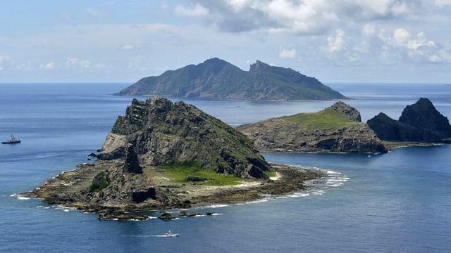 Las inslas en la Mar Sidchinaisa