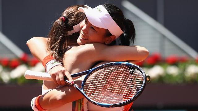 Hingis und Chan, hier nach ihrem Triumph in Madrid.