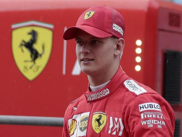 Mick Schumacher vor seiner Testfahrt für Ferrari