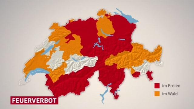 Das Feuerverbot nach Gebieten dargestellt.