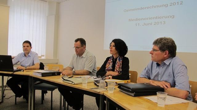 Der Neuhauser Gemeinderat bei der Präsentation der Rechnung 2012.