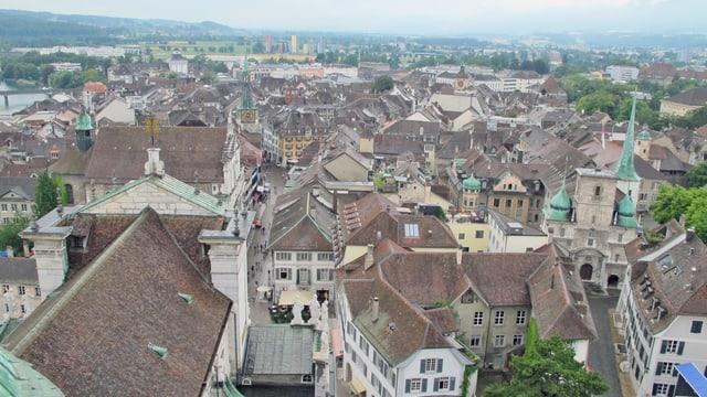Blick von oben auf die Altstadt von Solothurn