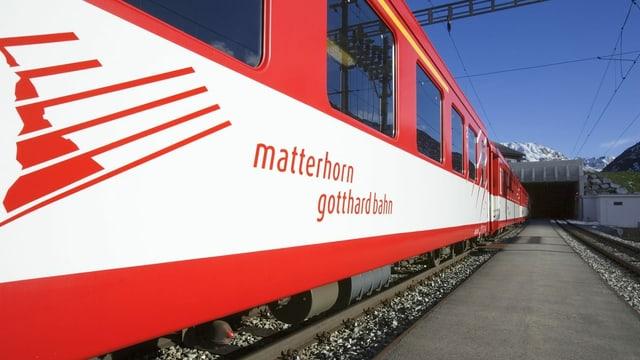 Tren da la viafier Matterhorn Gotthard.