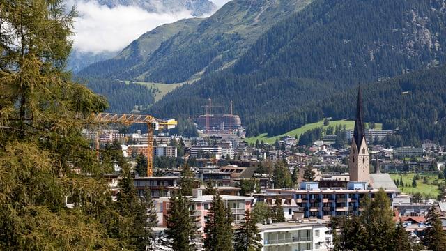 Ansicht von Davos