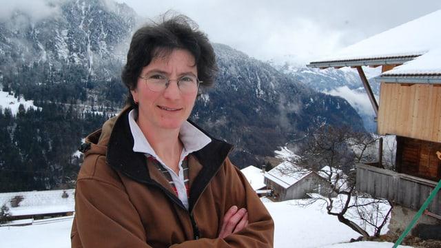 Therese Zurbuchen, Bergbäuerin in Habkern.