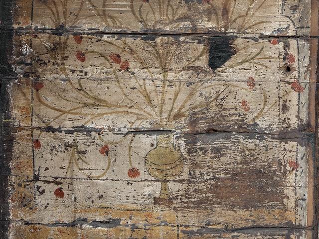 Detail einer Wandmalerei der «Schwarzen Stube».