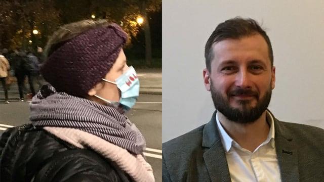 Karolina Lange demonstriert für Freiheit, Paweł Adamiak für ein noch strengeres Abtreibungsrecht.