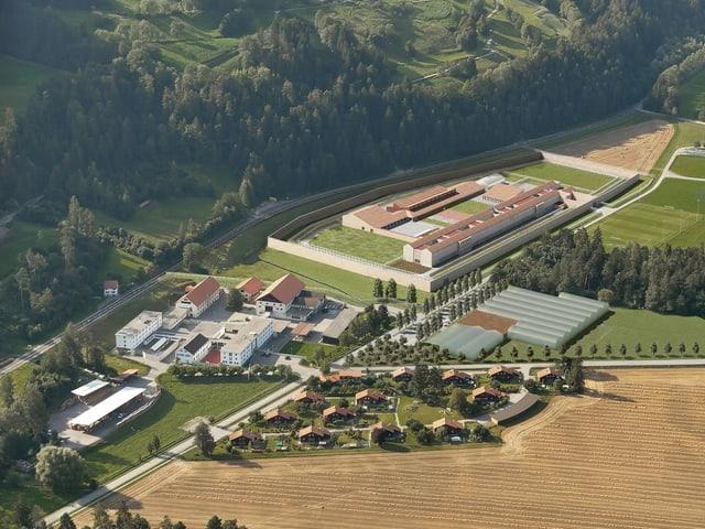 Visualisierung Gefängnis-Neubau Realta