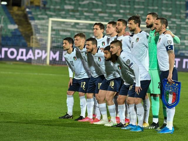 Die italienische Nationalmannschaft, hier beim WM-Qualispiel in Bulgarien.