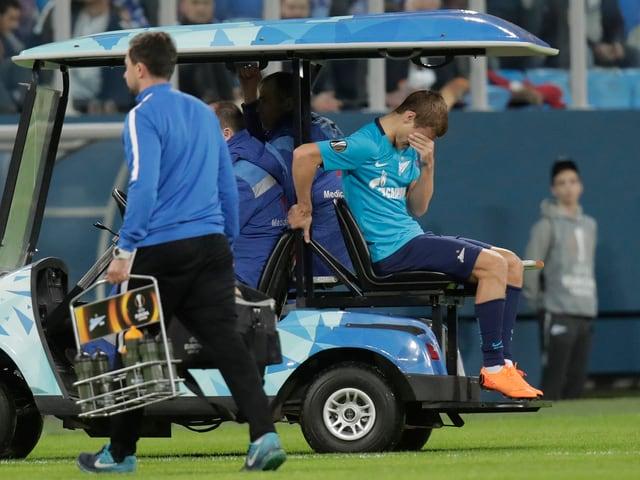 Alexander Kokorin verletzt sich schwer.