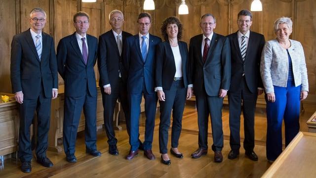 Gruppenbild der Berner Regierung.