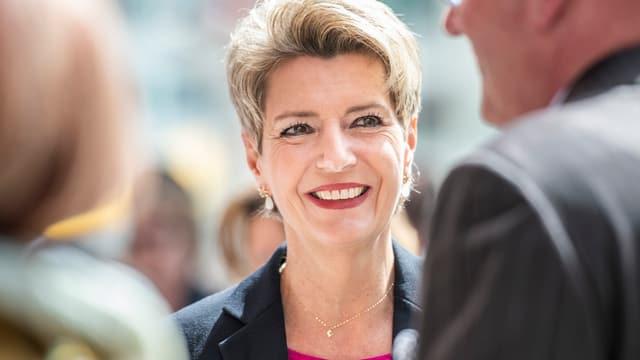 Karin Keller-Sutter an der Landsgmeinde in Appenzell.