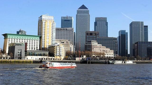 Blick auf die Skyline des Finanzdistrikts von London
