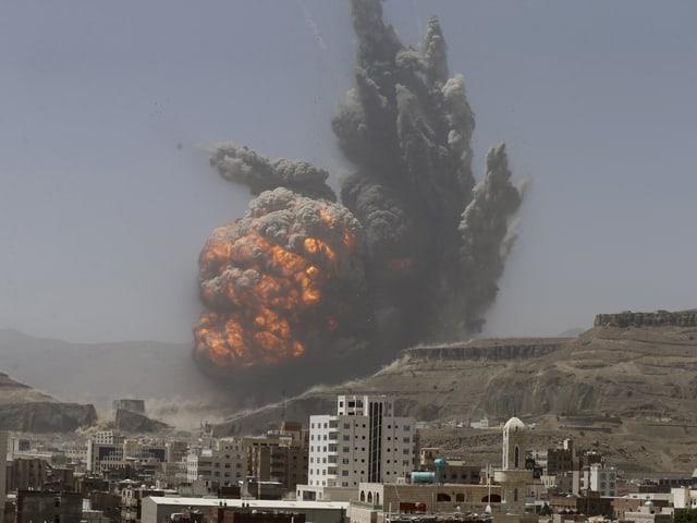 Luftschlag in Jemens Hauptstadt Sanaa