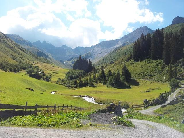 Der Weg durch das Gafiental bei St. Antönien benutzten die Walser als Verbindung nach Klosters.