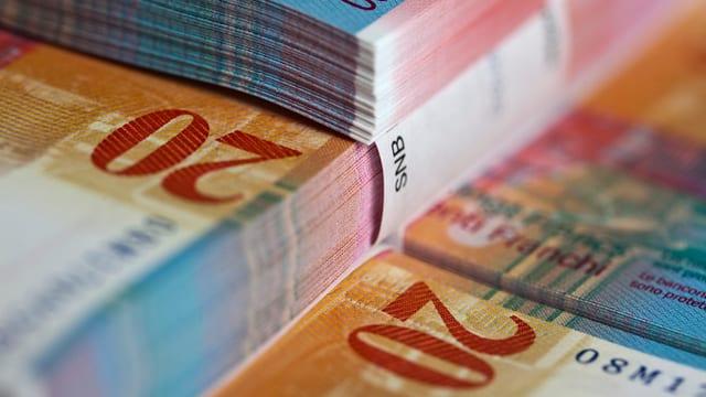 Gebündelte Banknoten