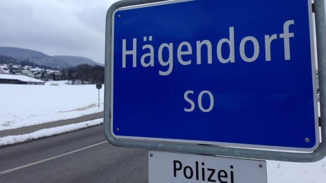 Das Ortschild von Hägendorf