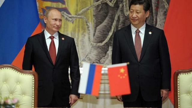 Vladimir Putin und  Xi Jinping