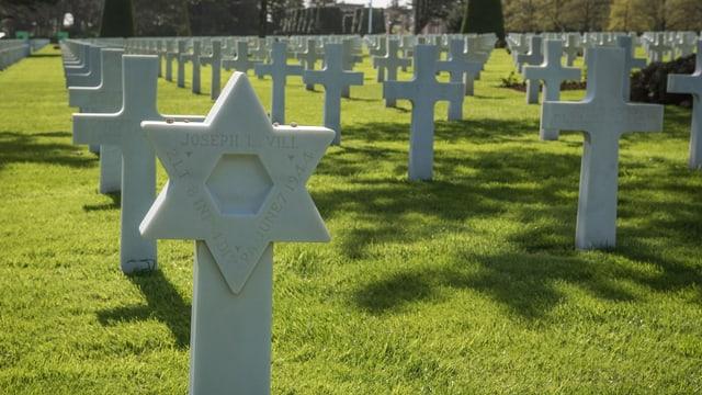 Davidstern auf dem Friedhof in der Normandie.