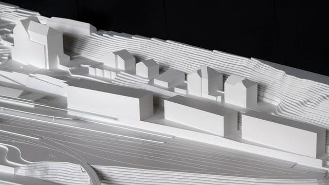 Der neue Bahnhof St. Moritz - das Modell.