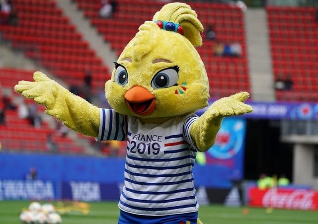 Daas Maskottchen der Fussball WM : Ein Küken