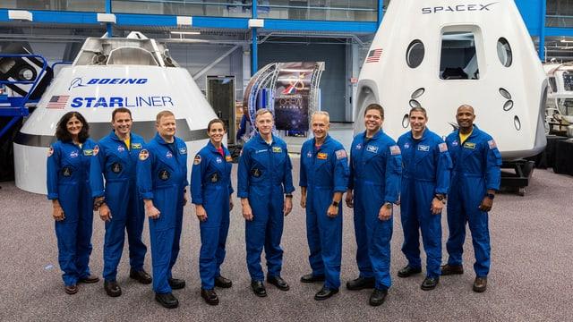Diese US-Astronauten stehen für den Beginn einer neuen Ära bei der NASA.