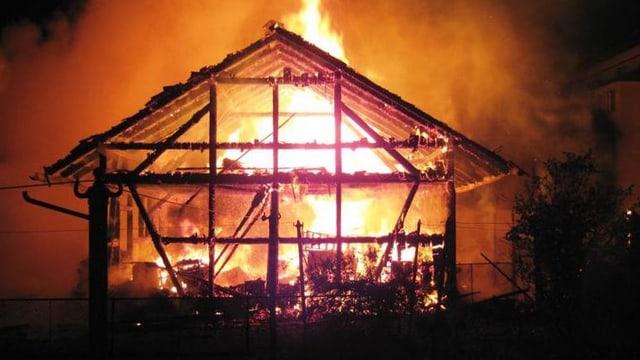 Hausbrand in Mitlödi