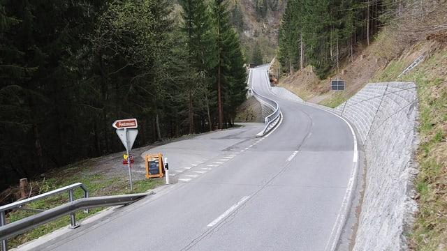 Il traject da la via dal Lucmagn a Fontanivas.