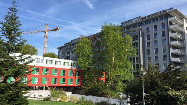 Kantonsspital Winterthur, Baustelle