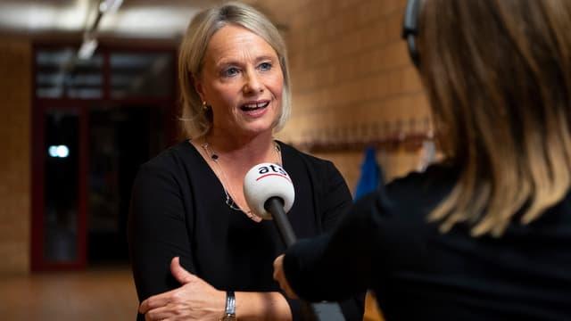 Elisabeth Schneider-Schneiter durant ina intervista.