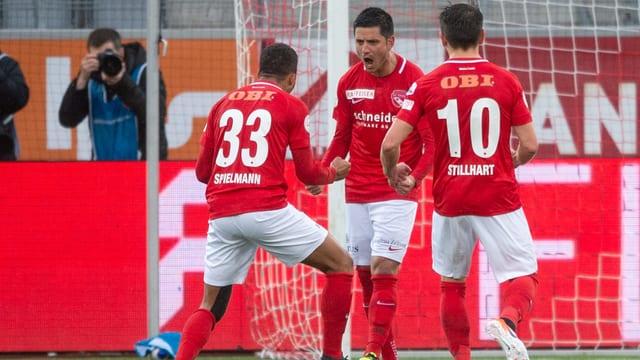 Moreno Costanzo schreit nach seinem Penaltytor.