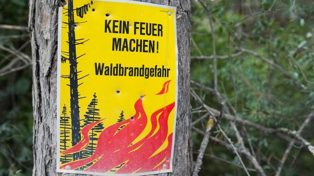 Plakat «Kein Feuer machen, Waldbrandgefahr».