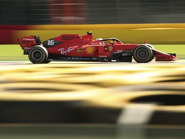 In den Trainings konnten Charles Leclerc (im Bild) und Sebastian Vettel die Mercedes-Fahrer abhängen.