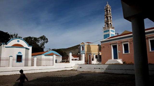 Eine Kirche auf der Insel Kastelorizo: