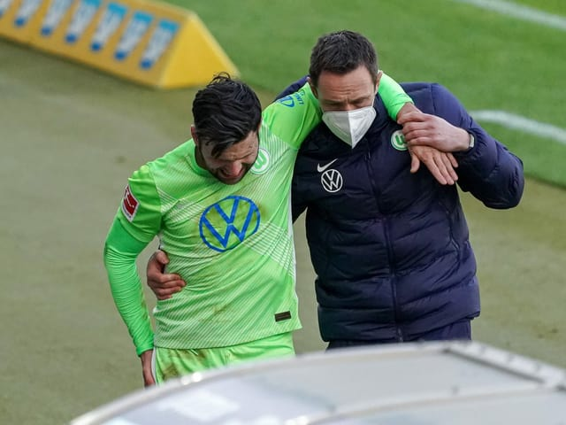 Renato Steffen wurde in der 70. Minute unsanft abgeräumt und musste danach ausgewechselt werden.