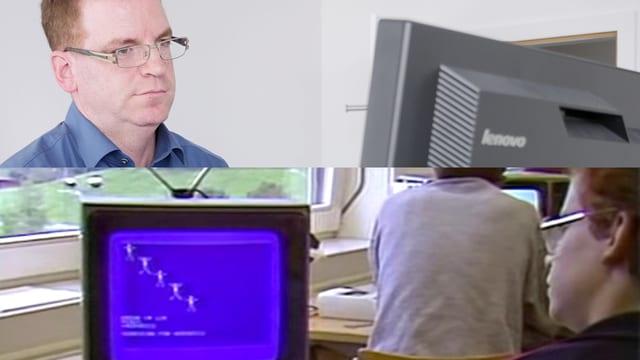 Marco Abriani 1983 im Schweiz aktuell-Beitrag - und heute. Als IT-Verantwortlicher bei der Firma Isa Bodywear.