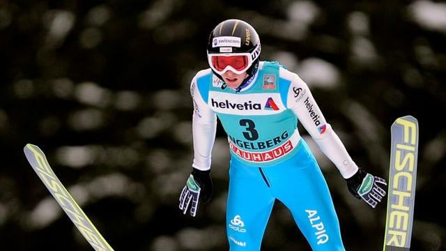 Pascal Kälin am Skispringen in Engelberg.